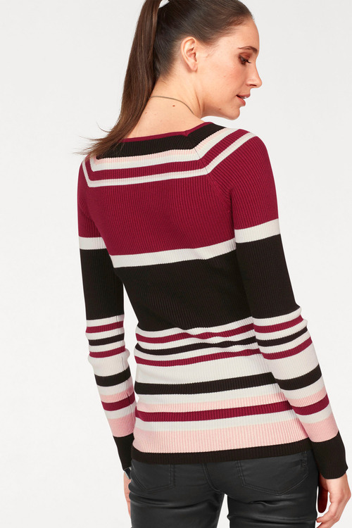 Urban Striped Rib Top