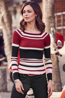 Urban Striped Rib Top - 223572