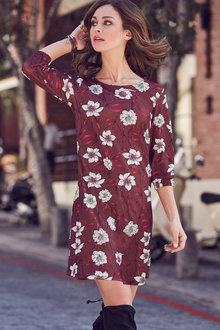 Urban Floral Print Dress - 223574