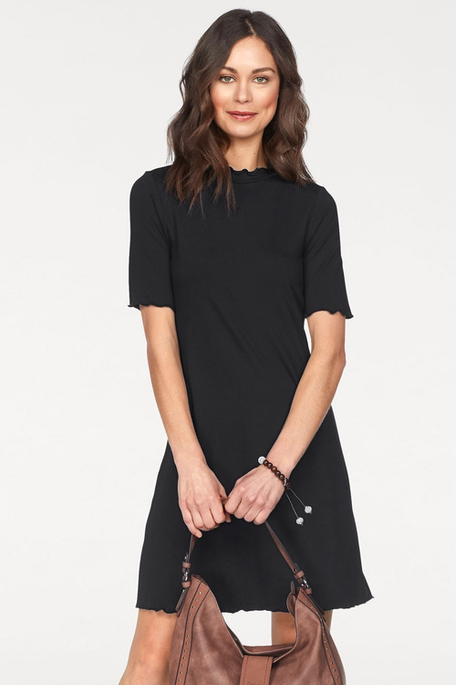 Urban High Neck Short Sleeve Dress