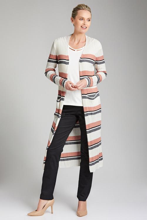 Urban Longline Stripe Cardigan