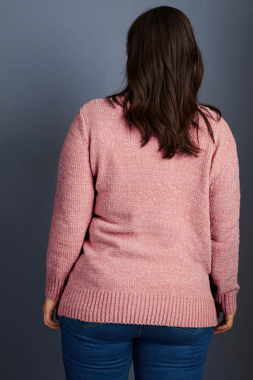 Sara V Neck Chenille Sweater