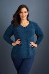 Sara V Neck Chenille Sweater
