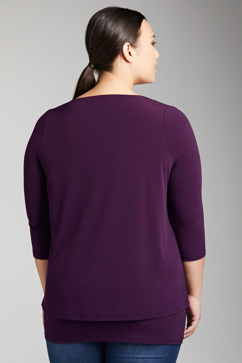 Plus Size - Sara Sleeve Detail Layer Top