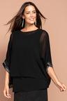 Plus Size - Sara Beaded Cuff Top