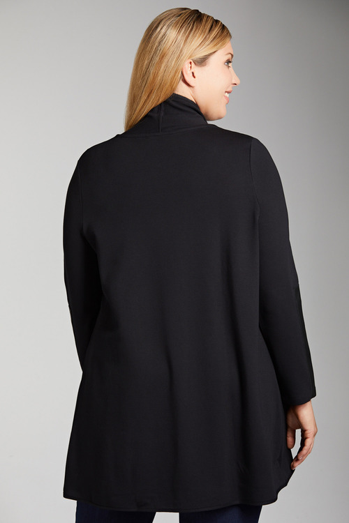 Plus Size - Sara PU Trim Jacket