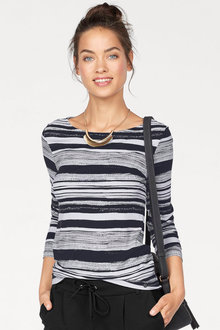 Urban Stripe Pattern Longsleeve Top