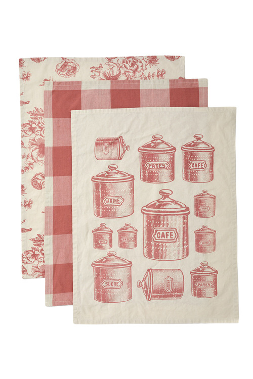 Cafe Tea Towels Set of Three
