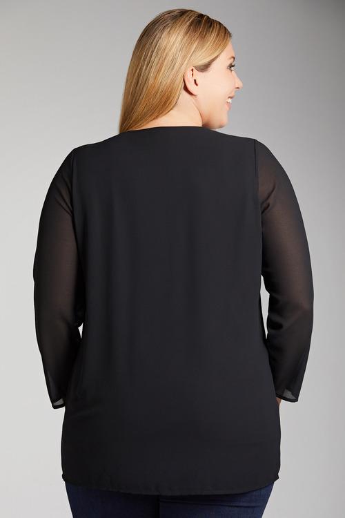 Plus Size - Sara Placement Print Tunic