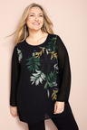 Plus Size - Sara Placement Print Tunic
