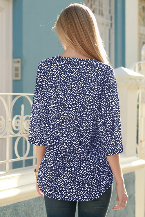 Capture European Heart Print Top