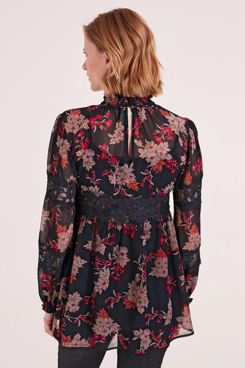Heine Lace Detail Floral Top