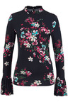 Urban Floral Print High Neck Top