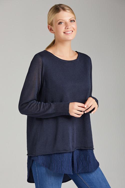 Grace Hill Shirt Tail Knit