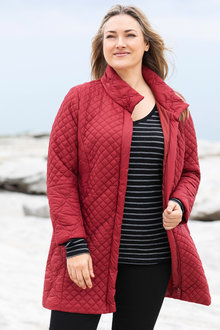 Plus Size - Sara Longline Quilted Jacket - 223678