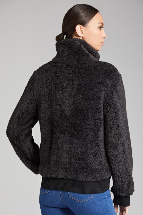 Emerge Fluffy Long Sleeve Crop Jacket