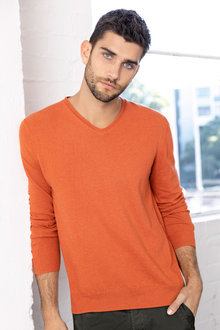 Men's V Neck Sweater - 223699