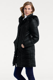 Heine Quilted Coat With Detachable Hood - 223710
