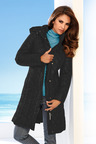 Heine Quilted Coat With Detachable Hood