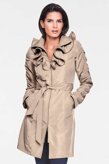 Heine Frill Collar Showerproof Coat - 223712