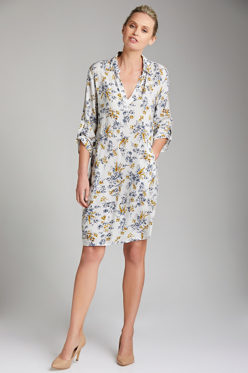 Emerge Half Placket Pocket Dress
