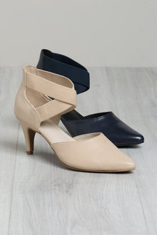 Plus Size - Sara Wide Fit Walker Court Heel