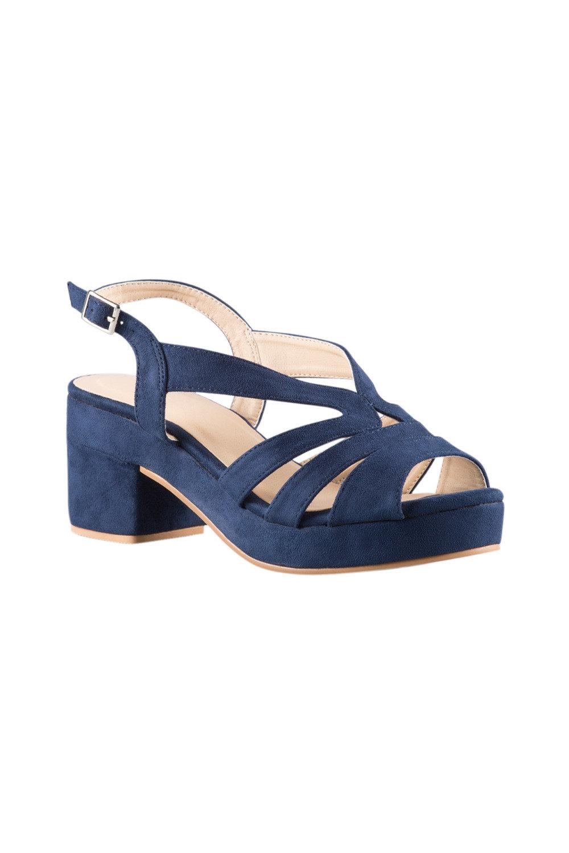 Wide Fit Fostoria Sandal Heel Online | Shop EziBuy