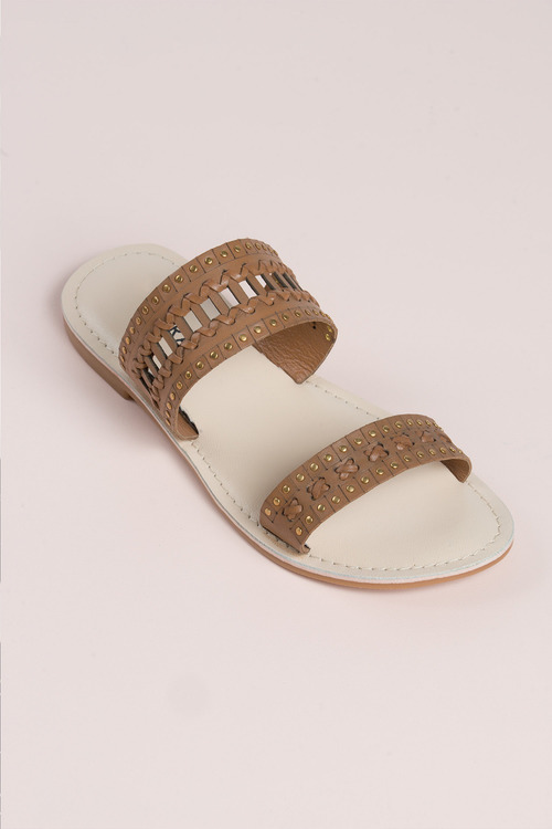 Wide Fit Leather Taylor Sandal Flat