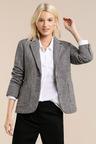 Emerge Wool Blend Tweed Check Blazer