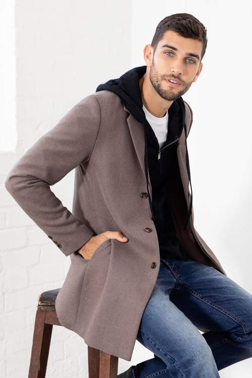 Mens Wool Blend Coat