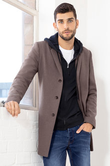 Men's Wool Blend Coat - 223843