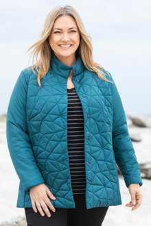 Plus Size - Sara Stitch Detail Jacket