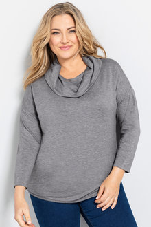 Plus Size - Sara Cowl Neck Sweatshirt
