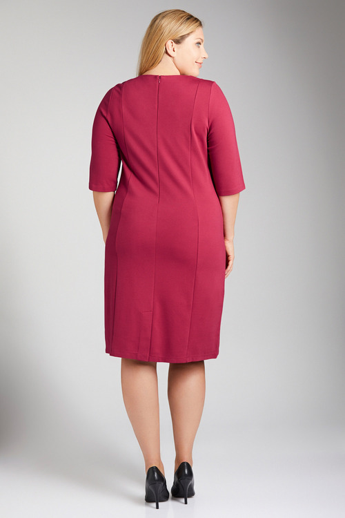 Plus Size - Sara Pearl Detail Ponte Dress