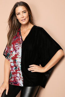 Plus Size - Sara Burnout Kaftan
