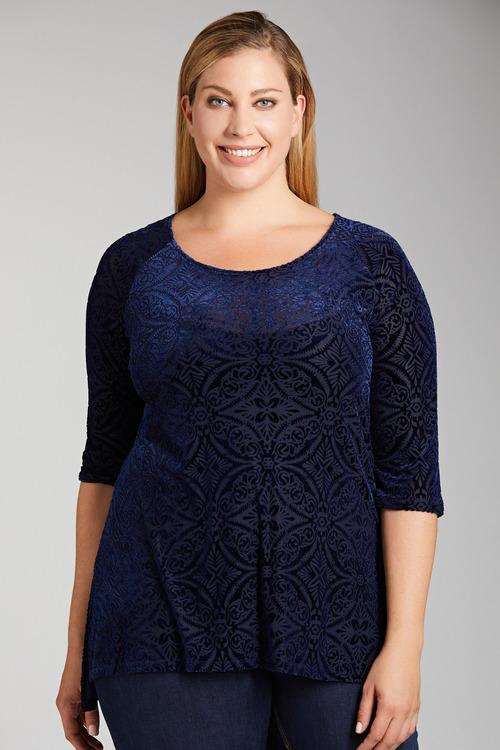 Plus Size - Sara Burnout Top