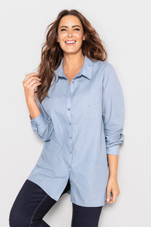 Sara Pearl Detail Shirt - 223868