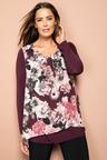 Plus Size - Sara Chiffon Overlay Top