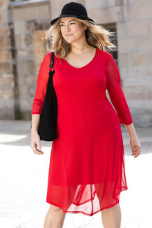 Plus Size - Sara Mesh Dress