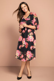 Plus Size - Sara Mesh Dress - 223870
