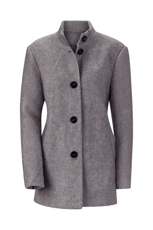 Euro Edit Felt Textured Coat