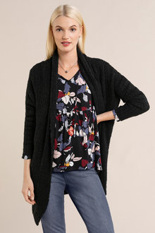 Emerge Textured Cozy Drop Shoulder Cardigan