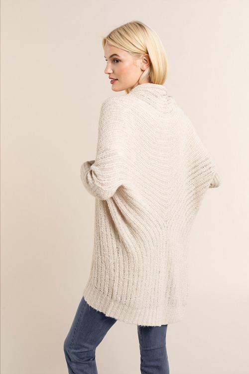 Emerge Textured Cozy Drop Shoulder Cardigan