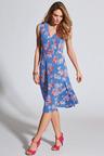 Kaleidoscope V Neck Print Dress