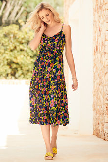 Kaleidoscope Floral Slip Dress - 223887