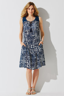 Kaleidoscope Crinkle A Line Dress
