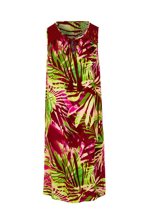 Kaleidoscope Crinkle A Line Dress