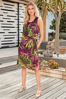 Kaleidoscope Crinkle A Line Dress - 223901