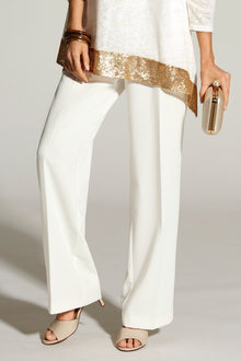 Kaleidoscope Wide Leg Crepe Trousers