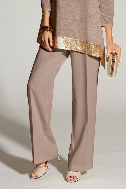 Kaleidoscope Wide Leg Crepe Trousers